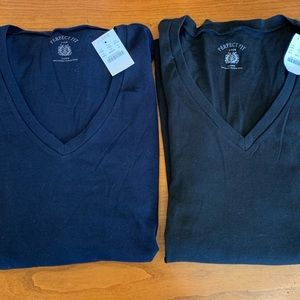 2 NWT J. Crew Perfect Fit long sleeve V Neck